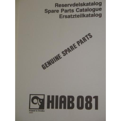 Hiab 081 Parts Manual