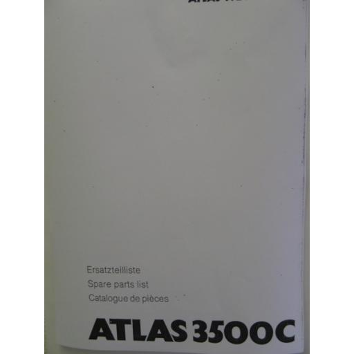 Atlas 3500C Parts Manual
