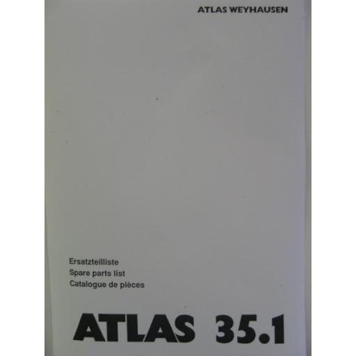 Atlas 35.1 Parts Manual