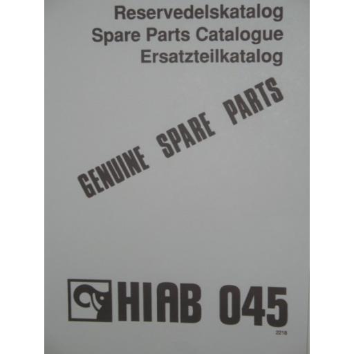 Hiab 045 Parts Manual