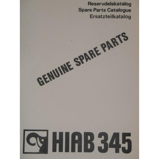 Hiab 345 Parts Manual