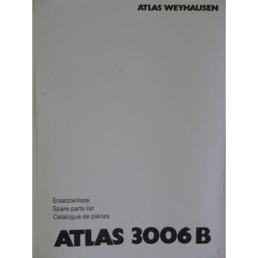 Atlas 3006B Parts Manual