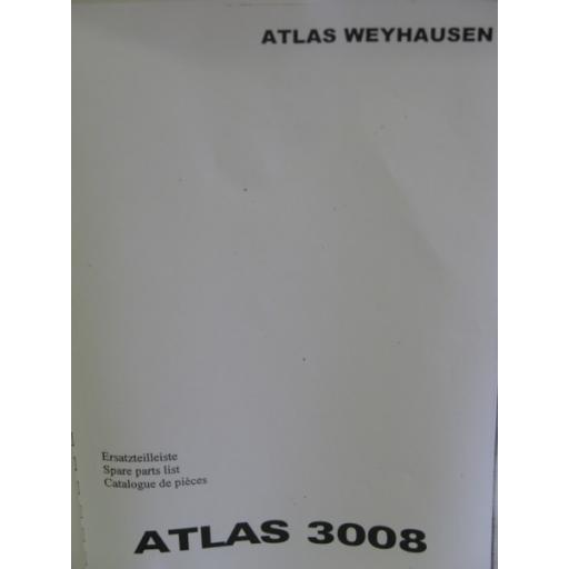 Atlas 3008 Parts Manual