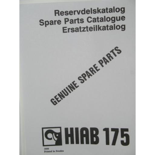 Hiab 175 Parts Manual