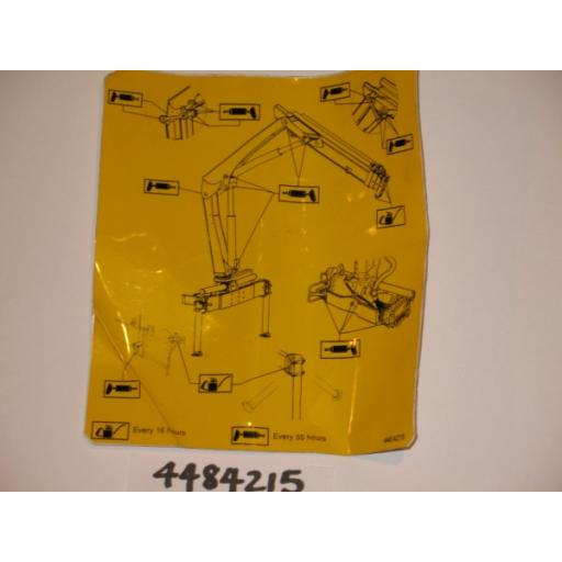 H4484215 Greasing Diagram Decal