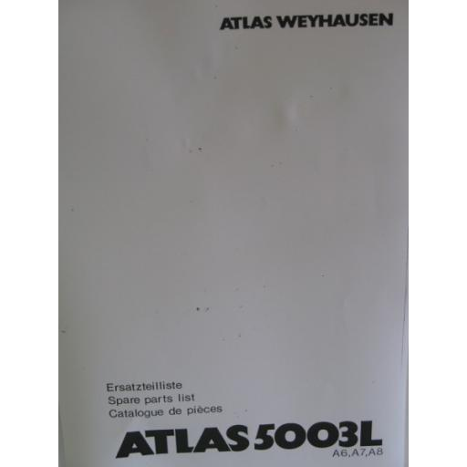 Atlas 5003L Parts Manual