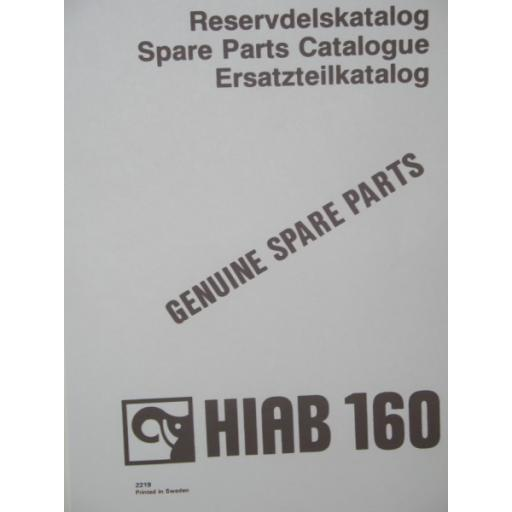 Hiab 160 Parts Manual