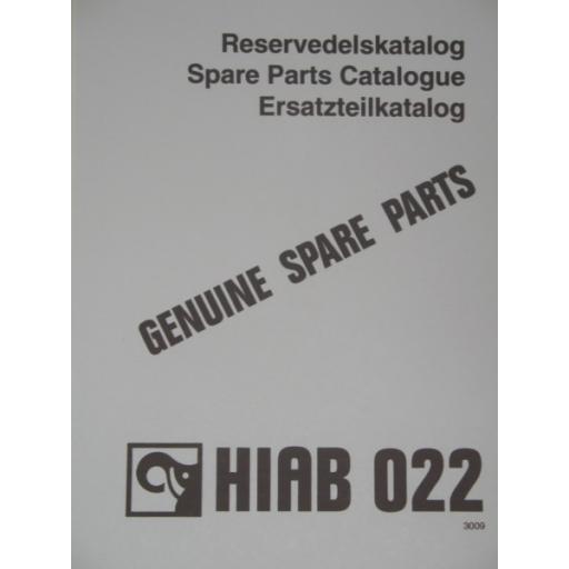 Hiab 022 Parts Manual