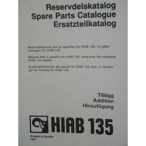 Hiab 135 Parts Manual
