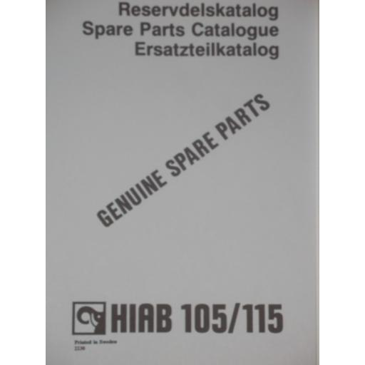 Hiab 105/115 Parts Manual