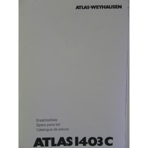 Atlas 1403C Parts Manual