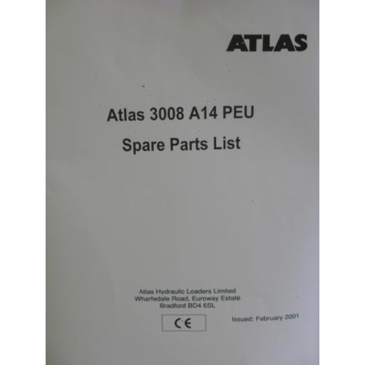 Atlas 3008 PEU A14 Parts Manual