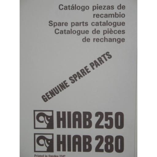 Hiab 250/280 Parts Manual
