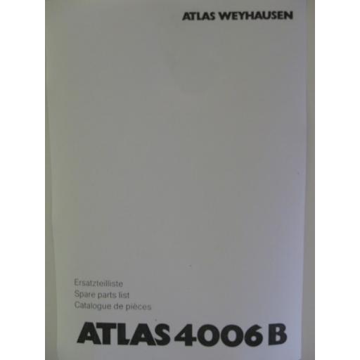 Atlas 4006B Parts Manual