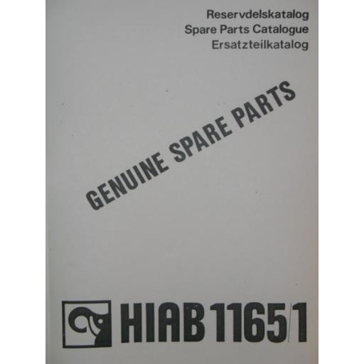 Hiab 1165/1 Parts Manual