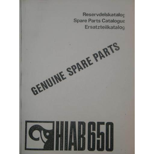 Hiab 650 Parts Manual