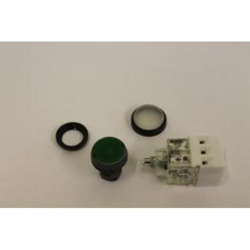 YE81291 Push Button, Green